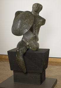 """Henry Moore's """"Warrior with Shield"""""""