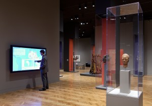 Go ahead, touch all you want: the interactive screen offers context, photos, and a chance to clannge friends with the cool new tidbit you just learned.