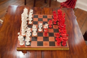 The chess set after the positions were changed.