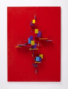 """""""Work No. 27 (Red Wing)"""" by Charles Biederman, one of the artworks sonically interpreted by Tom Hambleton."""