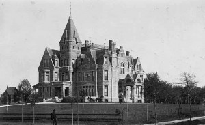 One of the grandest homes ever built in Minneapolis, the Washburn castle, torn down in 1924.
