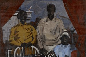 """Rufino Tamayo's painting """"The Family,"""" from 1936, on view in gallery G376."""
