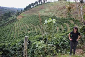 Dogwood coffee buyer Stephanie Ratanas in the field. Photo by Eliesa Johnson for the Daily Coffee News.