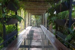 A breathtaking garden walkway at Sarang
