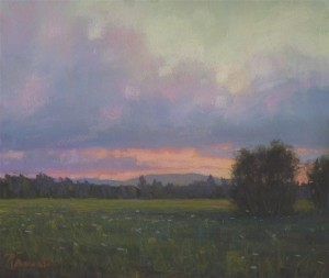 """""""Sunset Over Mt. Sunapee"""" by Sunapee artist Susan Parmenter was displayed last year in national juried exhibition organized by the Pastel Society of New Hampshire."""