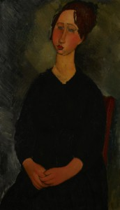 """Modigliani's """"Little Servant Girl"""" shows the poise and dignity he gave his depictions of even the lowliest workers in his neighborhood."""