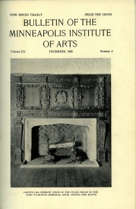 "The December 1923 edition of the MIA ""Bulletin"" describes the Tudor Room as an ""illusion of reality."""