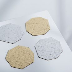 Gem Leather Coasters