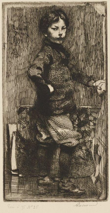 Albert Besnard, Robert Besnard, Age 9 1/2, 1891, etching, Bequest of Mrs. Charles S. Pillsbury, 1958 P.12,632