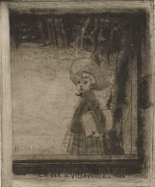 Albert Besnard, Robert Besnard, Little B of Villerville (Le Bi a Villerville), 1884, etching, Bequest of Mrs. Charles S. Pillsbury, 1958 P.12,628