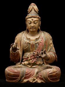 Seated figure of a bodhisattva Guanyin.