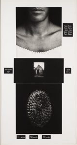 """Lorna Simpson (United States, 1960), Publisher: Brooke Alexander Editions, New York; """"Counting,"""" 1991, Photogravure and screenprint. Gift of Daniel Avchen, 2005.163, © 1991 Lorna Simpson (http://bit.ly/2EUOe3i)"""