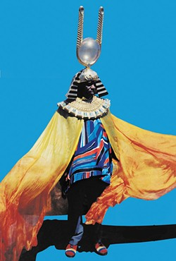 "Sun Ra in ""Space in the Place."""
