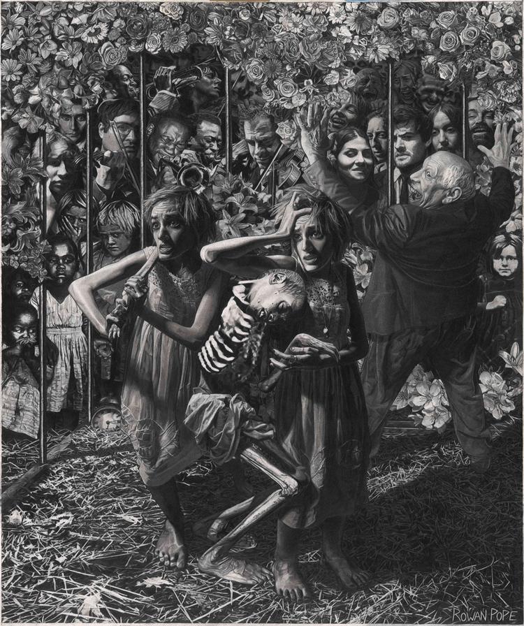 """Rowan Pope's drawing """"Franz Kafka's 'A Hunger Artist.'"""""""