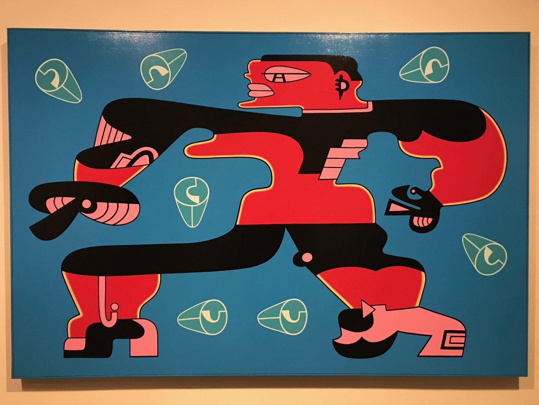 """Karl Wirsum's """"Streetwalker"""" painting"""