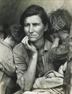 Dorothea Lange, American, 1895–1965, Migrant Mother, Nipomo, California, 1936, gelatin silver print; The Alfred and Ingrid Lenz Harrison Fund, 92.136