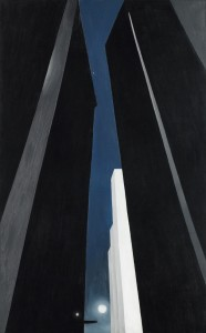 Georgia O'Keeffe, American, 1887–1986, City Night, 1926, oil on canvas.  Gift of funds from the Regis Corporation, Mr. and Mrs. W. John Driscoll,  the Beim Foundation, the Larsen Fund, and by public subscription  80.28